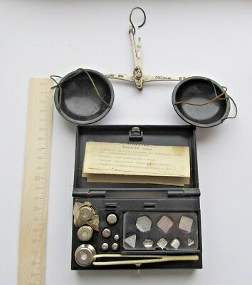 Set of Apothecary Scales With Weights, Cased