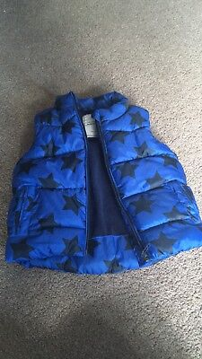Next boy blue star body warmer/gilet age 12 to 18 months