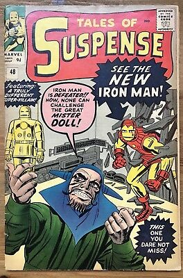 Tales of Suspense 48 - Marvel - Iron Man First Appearance Of Red And Gold Suit