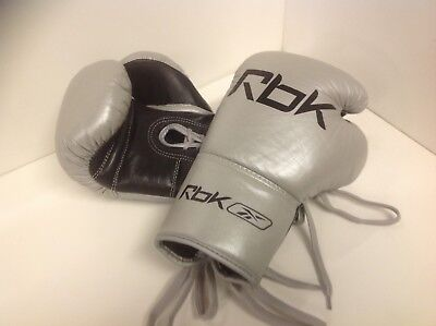 Reebok 8oz Boxing Gloves Silver/Black, Brand new in original packaging