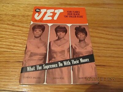 February 3 1966 Jet Magazine- Diana Ross What The Supremes Do With Their Money