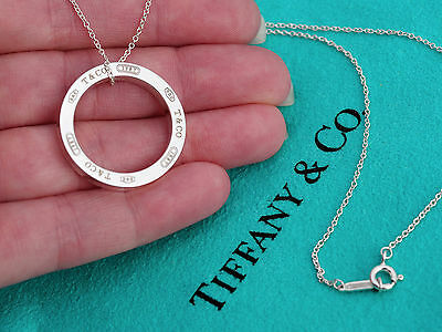 Tiffany co 1837 large circle sterling silver pendant necklace 16 tiffany co 1837 large circle sterling silver pendant necklace 16 inch aloadofball Gallery