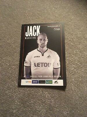 Swansea City V Everton Programme 2017-18