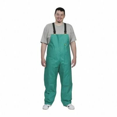 New Men's OnGuard 71250 PVC on Nylon Polyester Sanitex Bib Overall Green 4XL