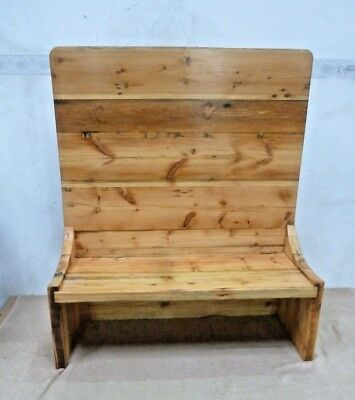 High back Garden pine seat  pew/ monks bench/box settle