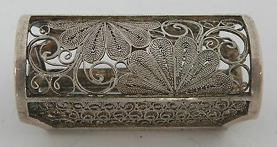 Early 1900's Japanese export 950 sterling Silver Filigree Vinaigrette pin brooch