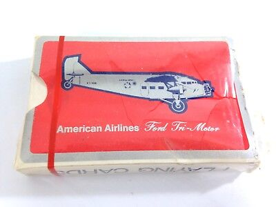 American Airlines sealed deck of playing cards, 1970s playing cards unopened #B8