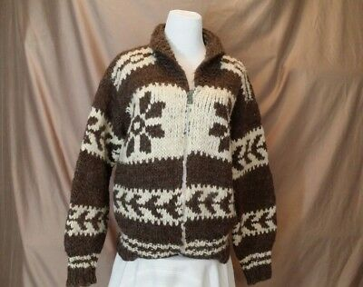 VINTAGE COWICHAN SWEATER Authentic w/VANCOUVER ISLAND TAG Womens SMALL