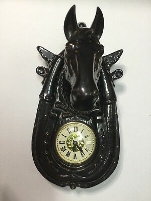 Vintage Ceramic Horse Head Wall Clock