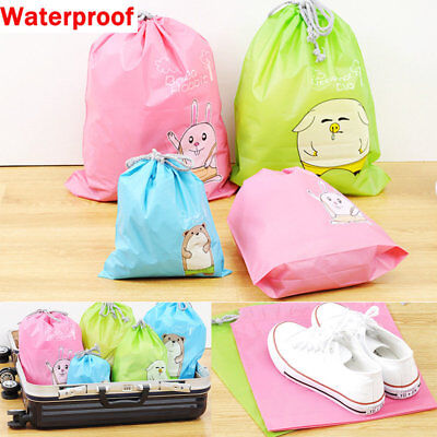 Waterproof Animal Laundry Shoe Drawstring Travel Bag Portable Tote Storage Pouch