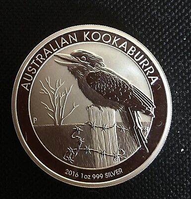2016 Australian 1 Troy Oz .999 Silver Kookaburra Brilliant Uncirculated