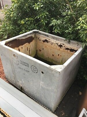 vintage galvanised metal water tank
