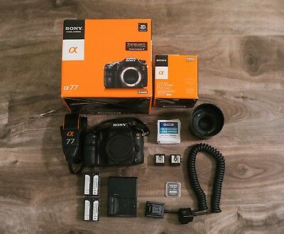 Sony alpha A77 24.3MP Camera body & 35mm f1.8 lens kit - Digital SLR