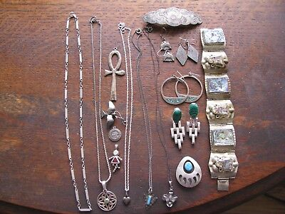 142 Grams Sterling Silver Jewelry  Read More