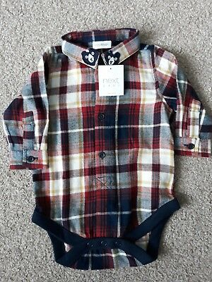 Next baby boys check shirt vest 3-6 months New with tags