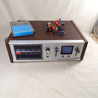 Sterling Electronics 8 Track Player Recorder Vintage Japan Cables Blank Tape