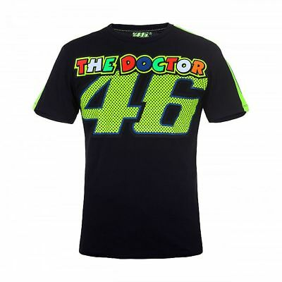 OFFICIAL Moto GP VR46 Valentino Rossi The Doctor Dr 46 T-Shirt Black – NEW