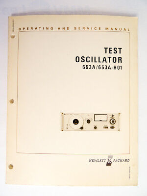 HP 653A Operating and Service Manual