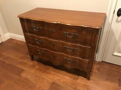 John Widdicomb Serpentine Fruitwood Louis XV Style French Chest Circa 1950s