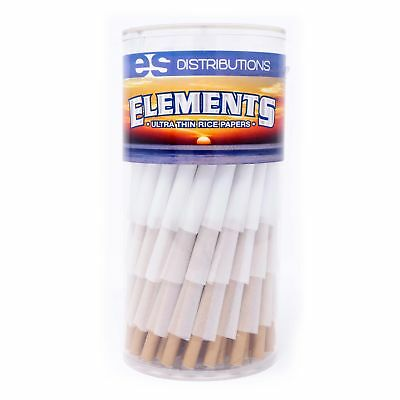 Elements Rice Paper 1 1/4 Size Pre-Rolled Cones (150 Pack)