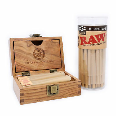 RAW Classic 98 Special Pre-Rolled Cones Bundle (50 Pack and RAW Storage Box)