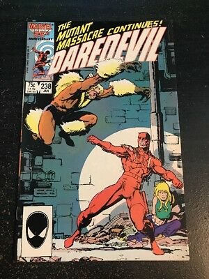 Daredevil#238 Awesome Condition 8.0(1987) Sabertooth, Art Adams Cover!!