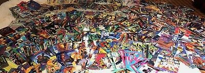 Lot of 1200 Marvel Comic Trading Cards  Vintage 1991 92 93 94 and 95