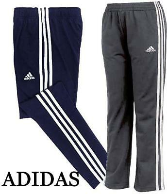 New! Boys Youth Adidas 3 Stripe Pants! Drawstring! Tapered Leg! Variety Sz/clrs