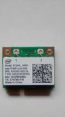 NEU Intel 5100 WiFi Link 5100agn PCIe Dualband Wireless Wlan-Karte 512AN-HMW