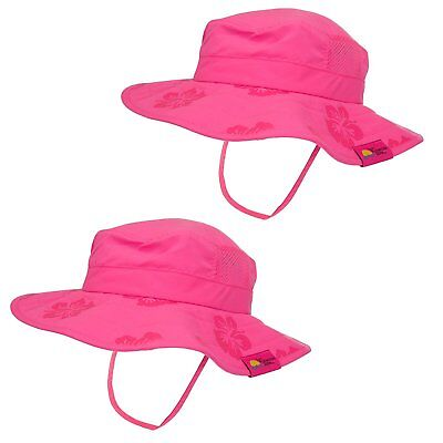 ef2e6bf50193d Sun Protection Zone Kids UPF 50+ Protection Safari Hat Strap Boys Girls 1  or 2pk