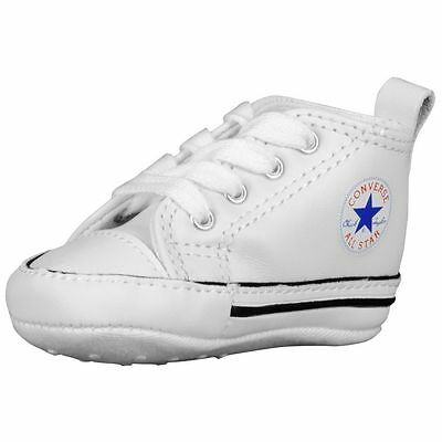 1a765a8f006adf Converse Newborn Crib White Leather 81229 First All Star Baby Shoes Size-1-  4