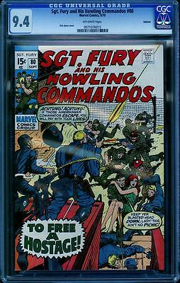 Sgt. Fury 80 CGC 9.4, Dick Ayers cover, Oakland Pedigree, Flawless cover wrap