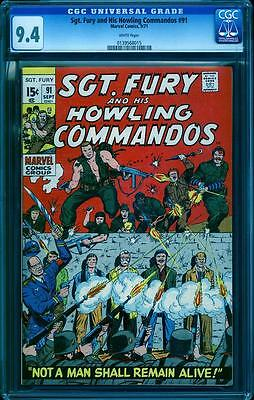Sgt. Fury 91 CGC 9.4, white pages