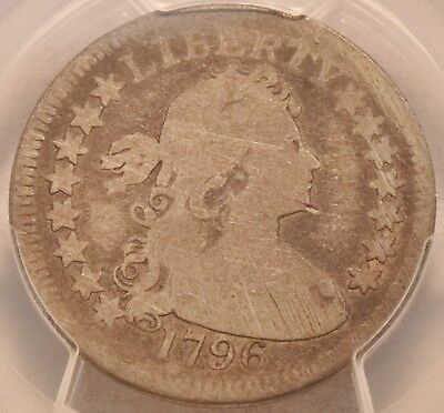 1796 25C PCGS AG Details Draped Bust Small Eagle Silver Quarter, RARE Type Coin