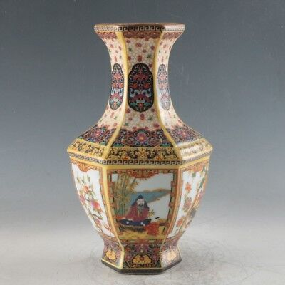 Chinese Enamel Porcelain Hand Painted Vase Made During The Qianlong Period FLC01