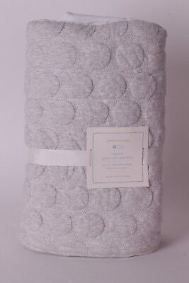 NWT Pottery Barn Kids Organic Jersey Dot Crib skirt gray nursery