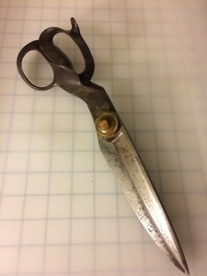 """Antique Shears 13.5"""" Unmarked (similar to R.Heinisch)  Scissors Tailor  *RARE*"""