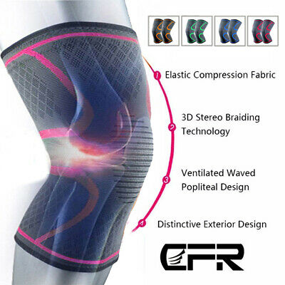 Copper Knee Recovery Compression Sleeve Support Protective Brace Men Women SFC