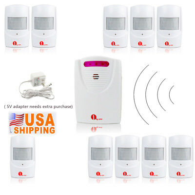 Home Security Wireless Alarm System 328ft LED Motion Sensor Entry Doorbell Chime