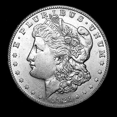 1921 S ~**ABOUT UNCIRCULATED AU**~ Silver Morgan Dollar Rare US Old Coin! #286
