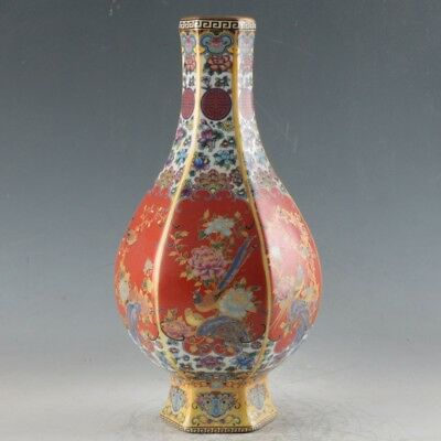 Chinese Enamel Porcelain Hand Painted Vase Made During The Qianlong Period FLC02