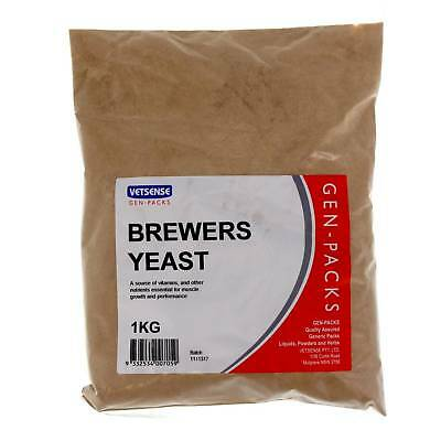 Brewers Yeast 1kg Horse Equine Supplement Health Vetsense Gen-Pack Value