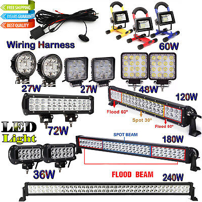 Combo LED Work Light Bar Spot Flood Off road Driving Jeep Truck 4WD SUV Bright