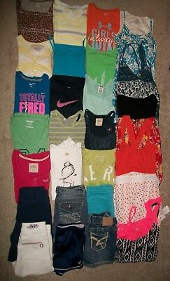 Guc! Lot Of 26 Girl Size 14 16 Namebrand Spring Summer Justice Hollister Ua