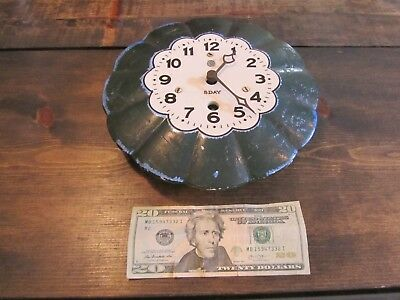 VINTAGE 8 DAY PORCELAIN WALL CLOCK Rare CELERATE model AS FOUND Old Antique