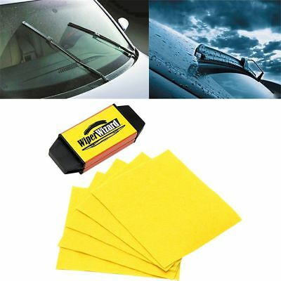 NEW Car Wiper Wizard Windshield Wiper Blade Restorer Cleaner with 5 Wizard Wipes