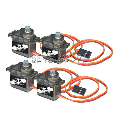 4PCS MG90S Metal Gear 9G Servo Motors Parts for RC Helicopter Drone Accessory SC
