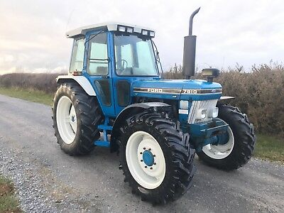 Ford 7810 4wd tractor series 2 100hp 7700 genuine hours no vat