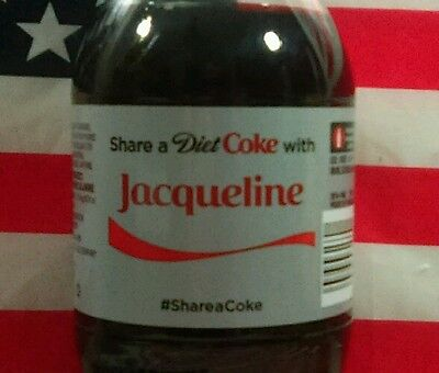 Share A Diet Coke With Jacqueline Limited Edition Coca Cola Bottle 2015 USA