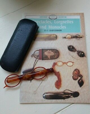 Vintage lorgnettes, book and case